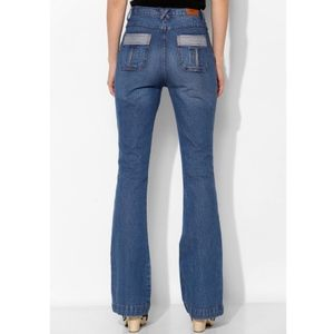 BDG High-Rise Patch Pocket Flare Contrast Jeans 26